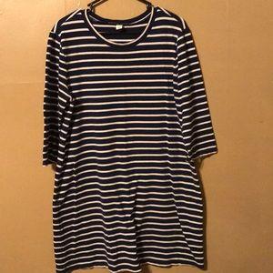 Old Navy Navy Stripe Dress Large